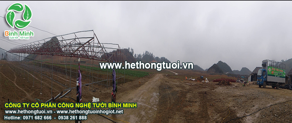Dự án 3 ha màng nhà kính tại Bắc Hà tỉnh Lào Cai